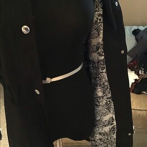 Guess jacket with snake print lining NWOT
